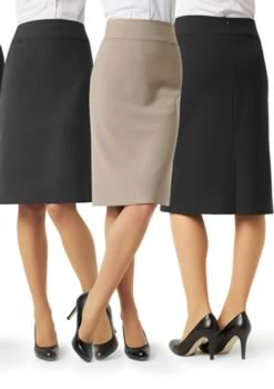 Ladies-Classic-Below-Knee-Skirt