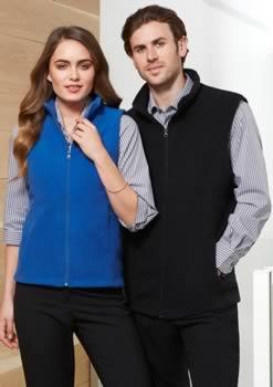 Mens-Plain-Microfleece-Vest