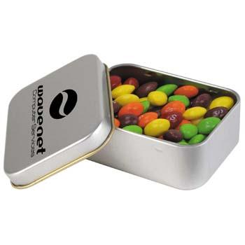 Assorted-Fruit-Skittles-in-Silver-Rectangular-Tin