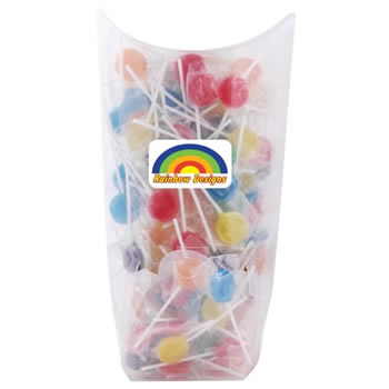 Assorted-Colour-Lollipops-in-Confectionery-Dispenser-Undecorated-Filled