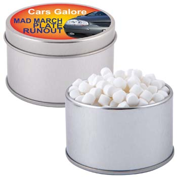 Peppermints-in-Silver-Round-Tin