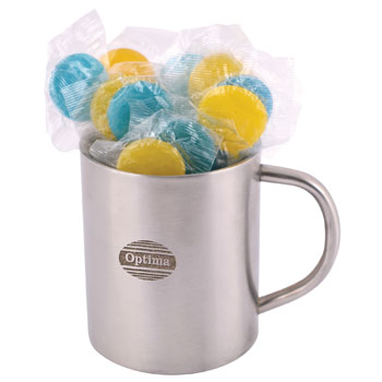 Corporate-Colour-Lollipops-in-Double-Wall-Stainless-Steel-Barrel-Mug