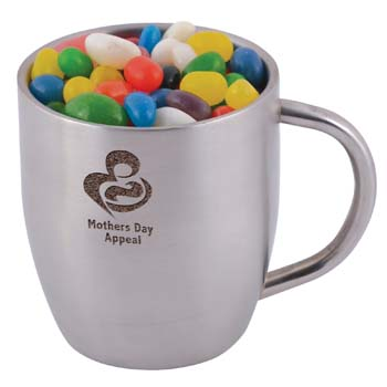 Assorted-Colour-Mini-Jelly-Beans-in-Stainless-Steel-Double-Wall-Curved-Mug