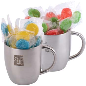 Corporate-Colour-Lollipops-in-Stainless-Steel-Double-Wall-Curved-Mug