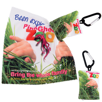Custom-Superior-Hi-Microfibre-Lens-Cloth-in-Pouch-with-Carabiner