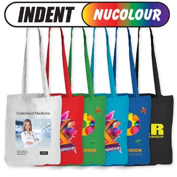 ColouredCottonDoubleLongHandleConferenceBag140GSM