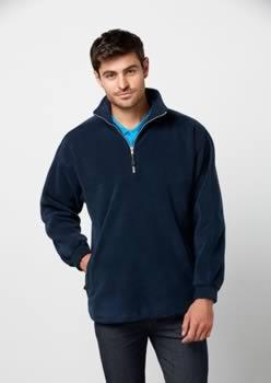 Mens-Heavy-Weight-12-Zip-Winter-Fleece