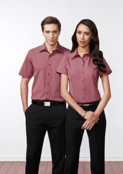 Ladies-Chevron-Short-Sleeve-Shirt