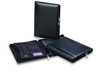 Classic-Zip-Leather-Compendium-Nappa-Leather-Was-WC113BLK